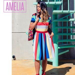 LuLaRoe Dresses - LuLaRoe Amelia box pleats & pockets sz 2X NWT